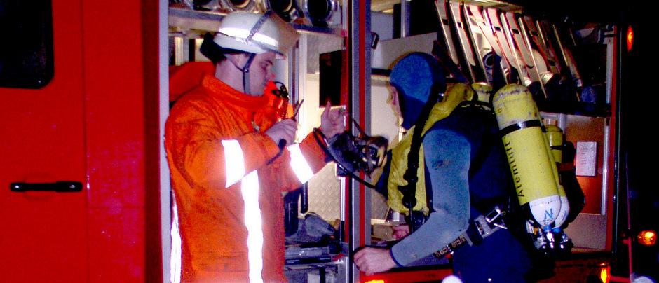 Feuerwehrtaucher in Rulle