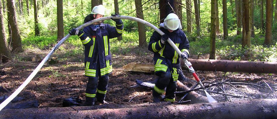 Waldbrand im Ruller Hohn