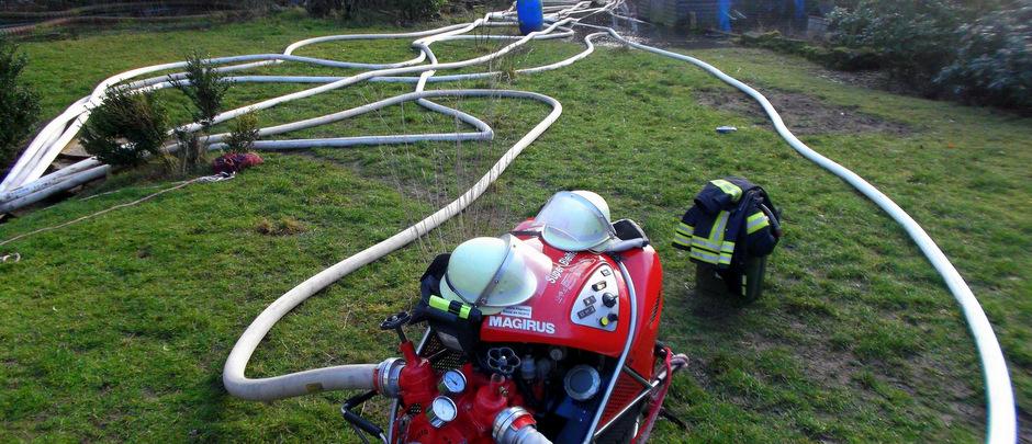 Osnabrücker Hauptwasserleitung Leck geschlagen