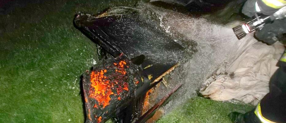 Gebäudebrand am Hundhügel