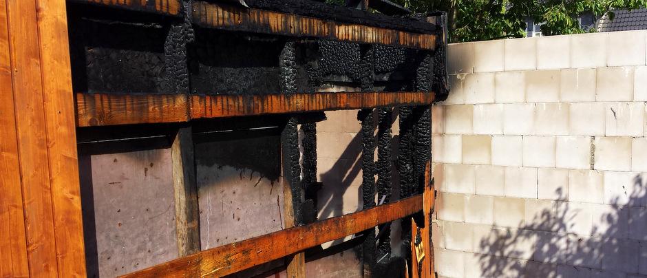 Garagenanbau ausgebrannt