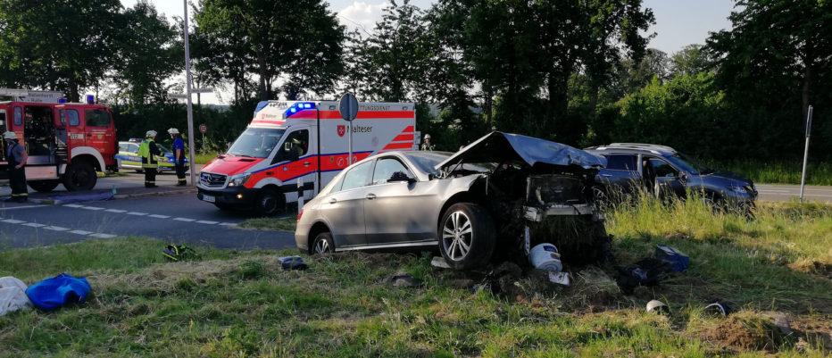 Schwerer Verkehrsunfall auf der L109