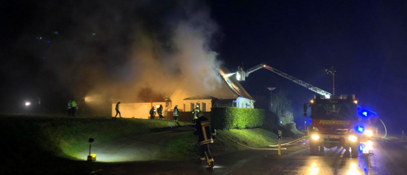 Wohnhausbrand in Vehrte