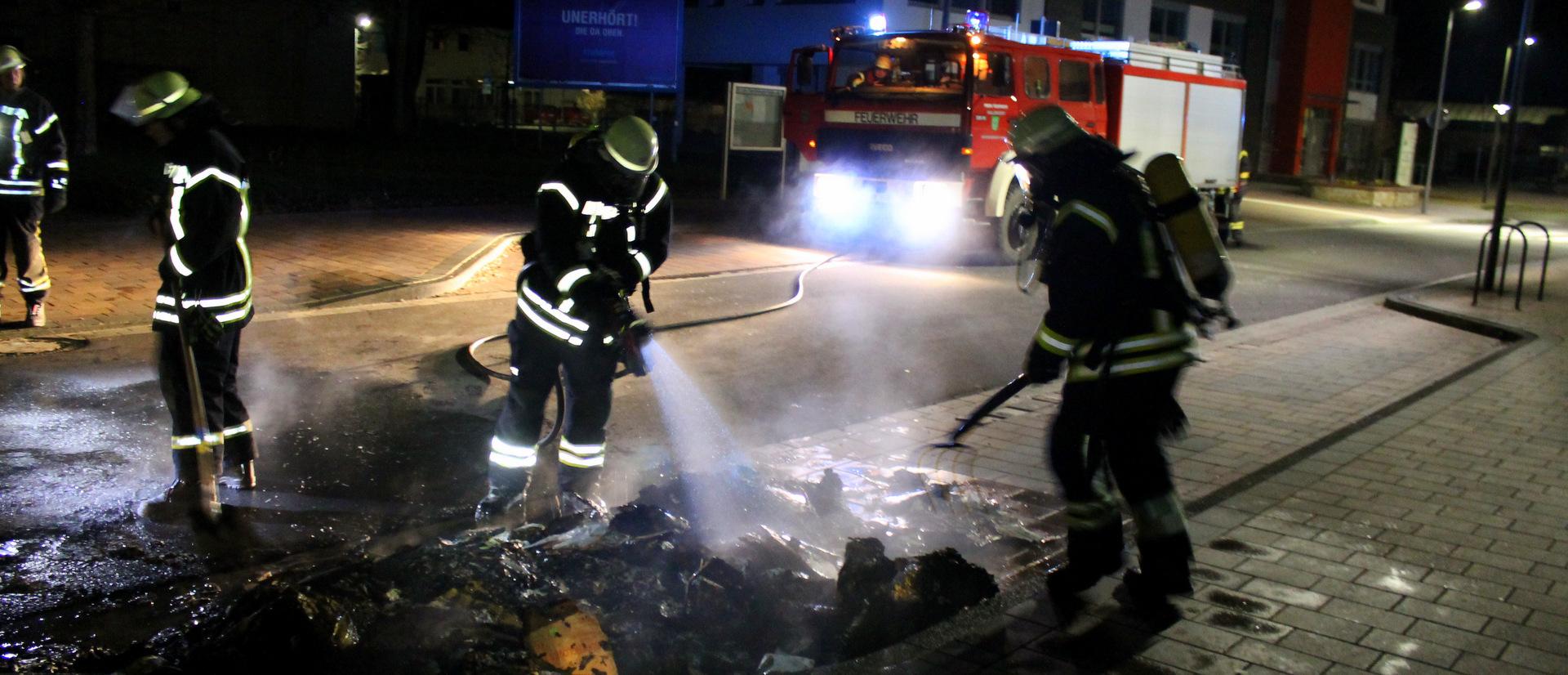 Müllcontainerbrand an der Klosterstraße