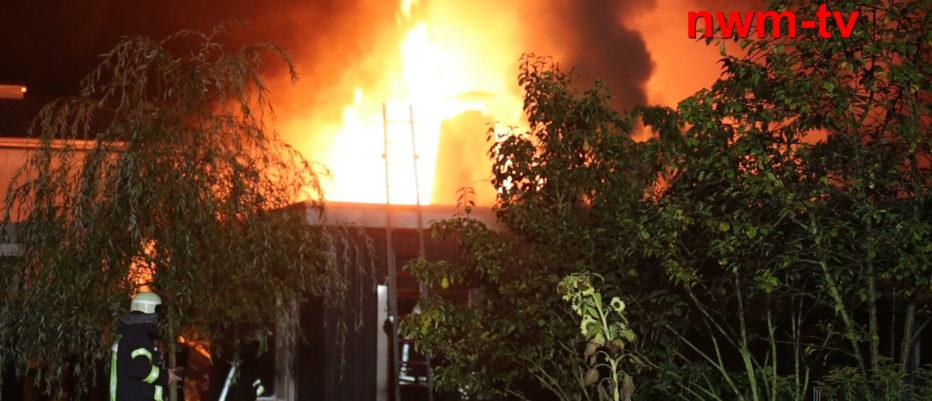Saunabrand in Vehrte