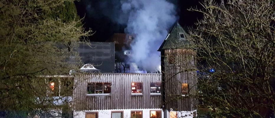 Gebäudebrand am Quellengrund